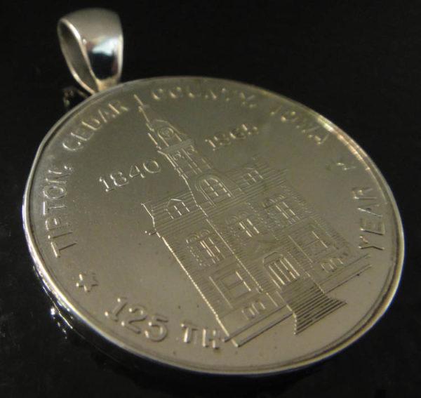 1965 Tipton, Iowa souvenir coin and silver pendant
