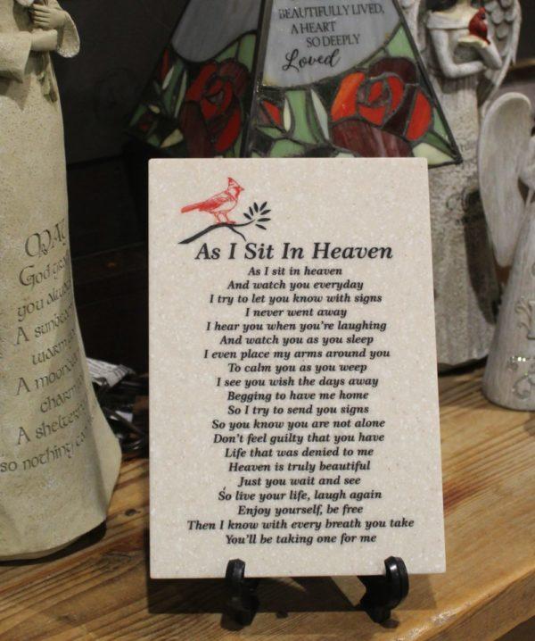 As I Sit In Heaven Corian Tile