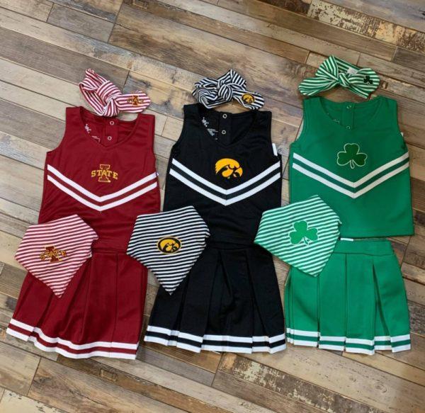Children's Collegiate Cheerleading Outfits