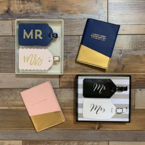 Honey-Mooners Travel Tags & Passport Holder