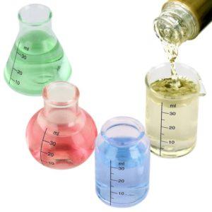 Lab Shots, set of four mini beaker