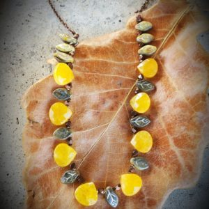 Bright colorful fall colored necklace