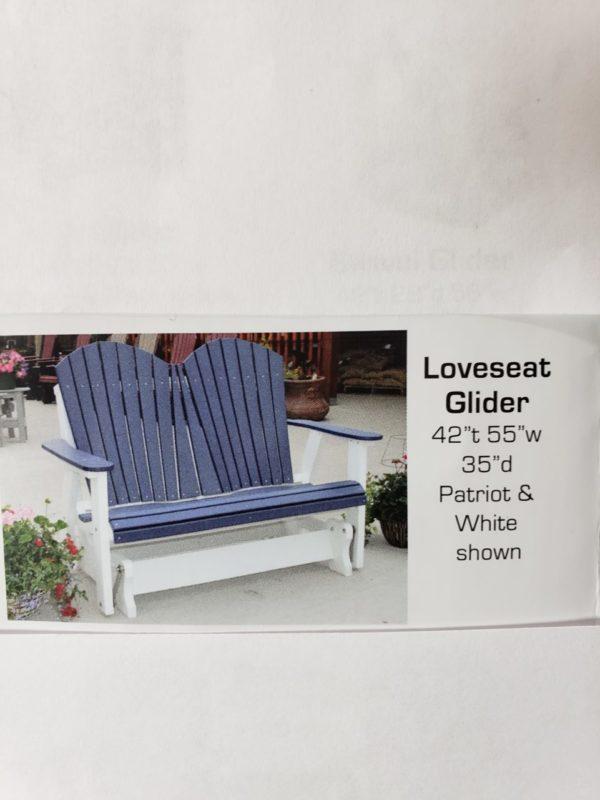 4″ Loveseat Glider PolyCraft furniture