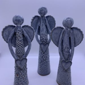 Set of 3 ceramic angels