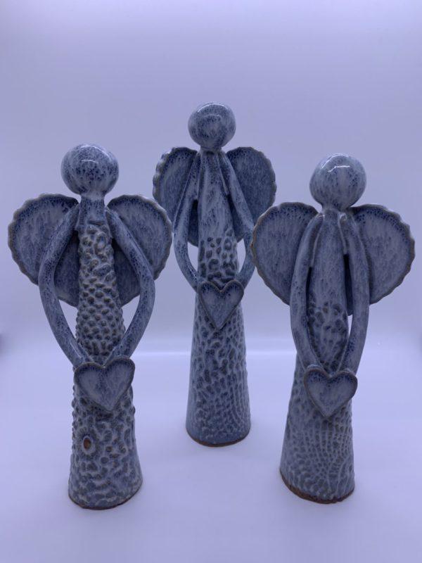 Set of 3 ceramic angels