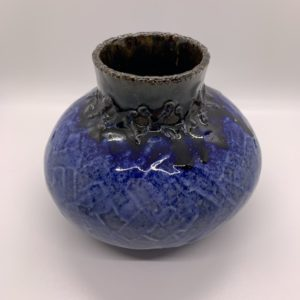 Rounded bottom ceramic vase