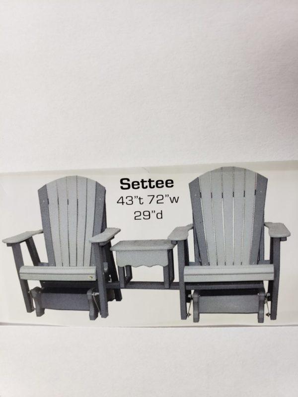 5′ Adirondack Setee Console Height PolyCraft Furniture