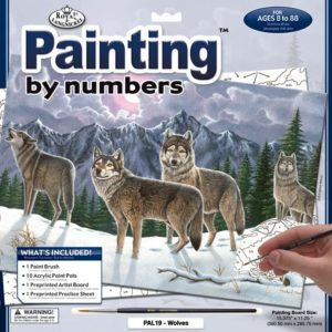 paint by number wolves
