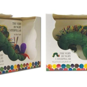 photo of Very Hungry Caterpillar, book and plush set, Paper Moon, Shop iowa