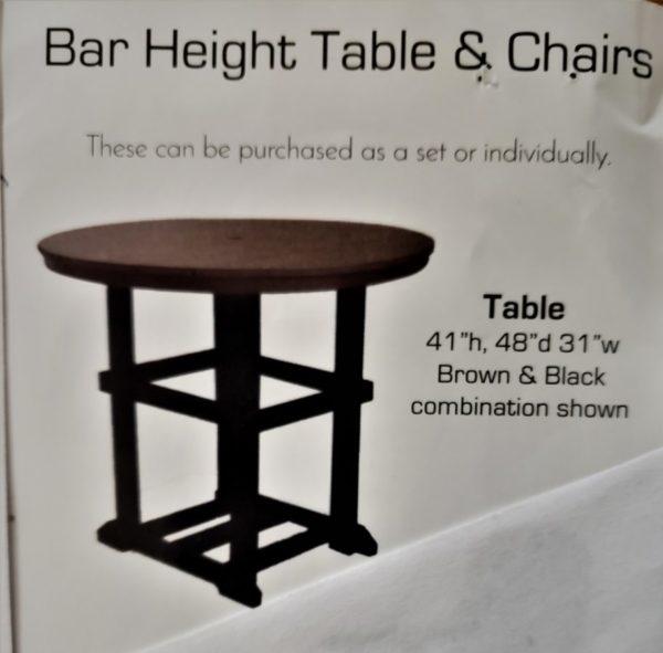 Bar Height Table PolyCraft Furniture