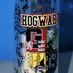 Harry Potter Hogwarts Alumni 20 oz Acrylic Water Bottle Screw Off Lid & Glitter! on Shop Iowa