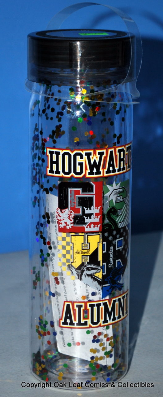 Harry Potter Hogwarts Alumni 20 oz Acrylic Water Bottle Screw Off Lid & Glitter! on Shop Iowa
