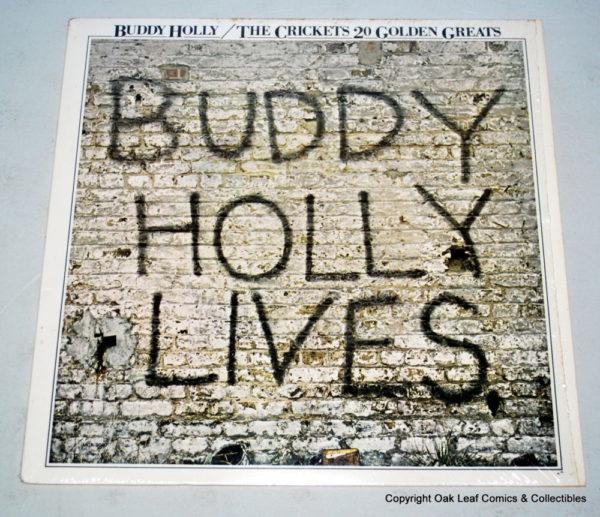 Buddy Holly & The Crickets 20 Golden Greats 1980's Vinyl LP Record
