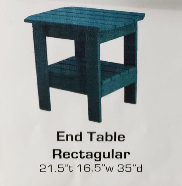 End Table Rectangular PolyCraft Furniture