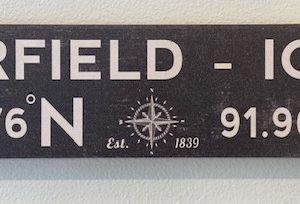 Fairfield Latitude/Longitude Sign