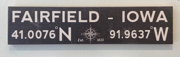 Fairfield Latitude/Longitude Sign