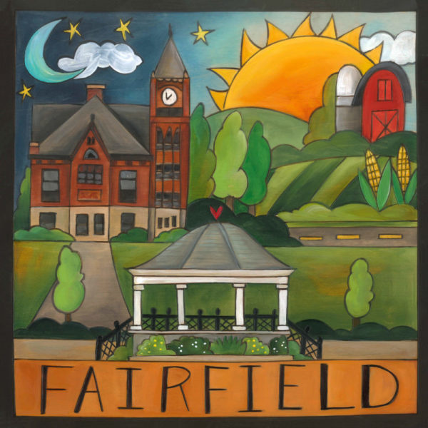 Fairfield Wood Plaque by Sincerely Sticks