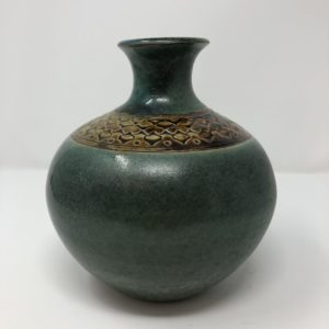 Teal Vase handmade in Iowa