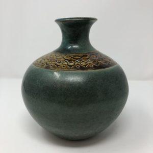 Teal Vase- Karen Moorehead