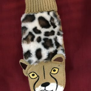 Leopard Mittens