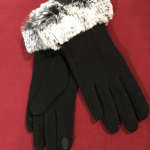 Plush Trim Gloves