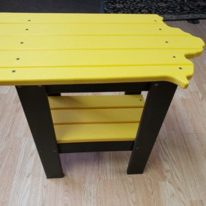 Iowa Shaped End Table PolyCraft Furniture – Hawkeye & Iowa State Colors