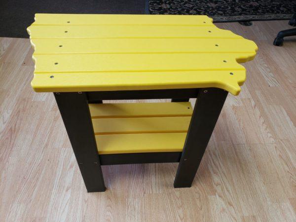 Iowa Shaped End Table PolyCraft Furniture – Hawkeye & Iowa State Colors