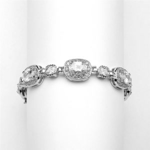 Silver Cushion Cut CZ Bracelet