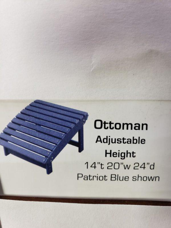 Ottoman Adjustable Height PolyCraft Furniture