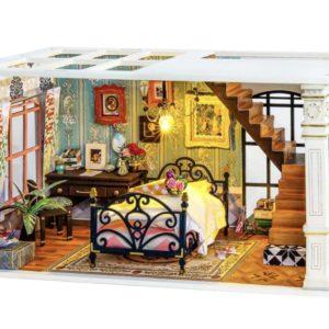 Miniature DIY Dollhouse Paris Midnight