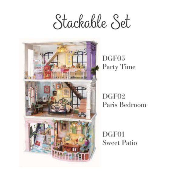 Miniature Dollhouse-Paris Midnight