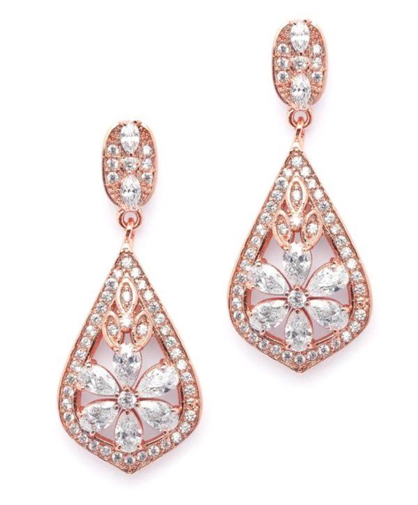 rose gold earrings -mco