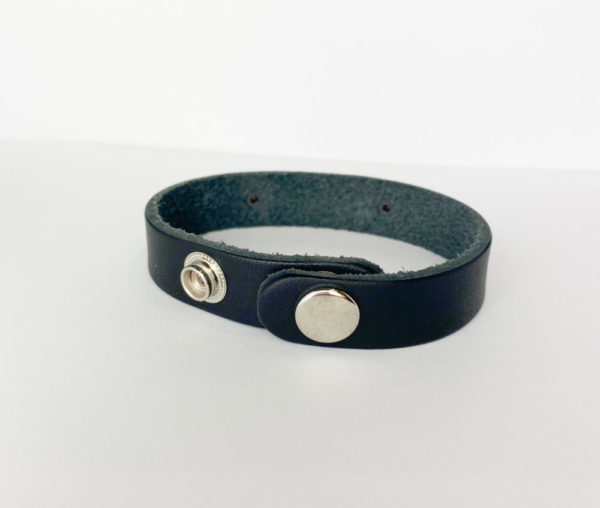 Thin Blue Line or Thin Red Line Leather Bracelet