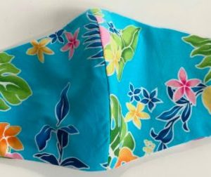 Hawaiian Print 100% Cotton Face Mask