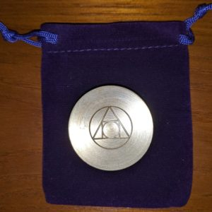 The World's Greatest Coin Trick Box w/ Alchemy Philosopher Stone Symbol Engraving