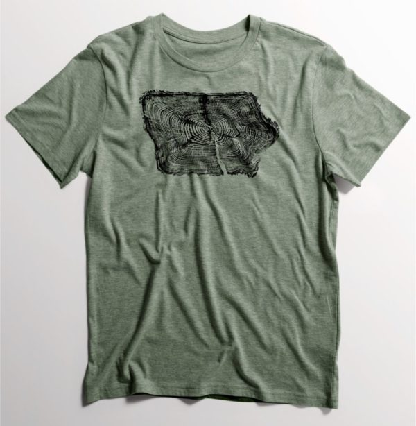 Iowa Tree Ring T Shirt on Shop Iowa