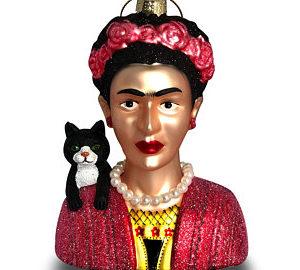 Frida Kahlo Glass Ornament