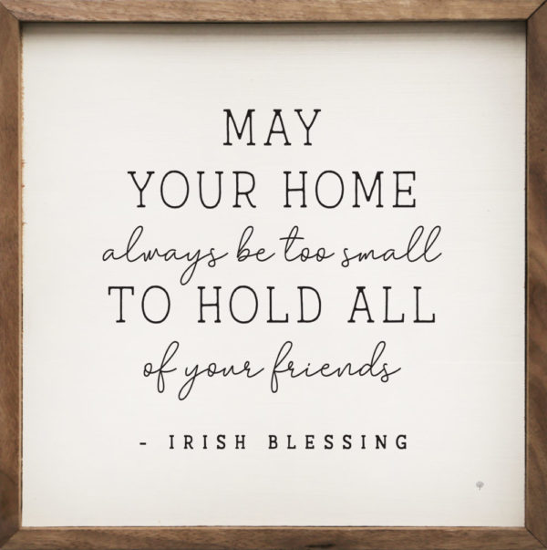 May Your Home – Irish Blessing – Kendrick Home Wood Sign, Shop Iowa