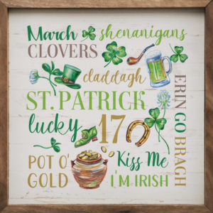 St. Patrick – Kendrick Home Wood Sign, Shop Iowa