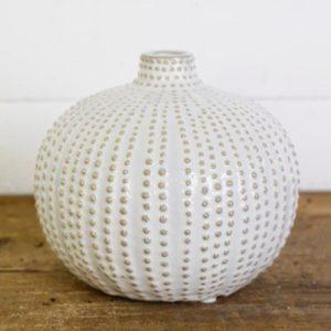 6″ Sand Dot Fat Vase