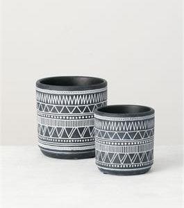 Black and White Planter