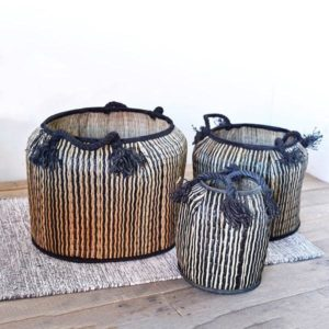 Seagrass Tubs with black trim