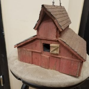 3 Roof Barn Bird House