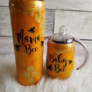 Mommy and Me Bee Tumbler Set