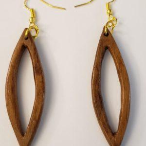 Tear Drop Wooden Earrings #1