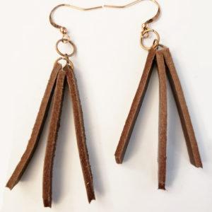 Leather Earrings #1