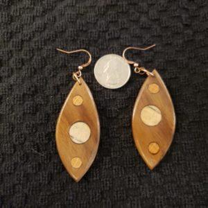 Wooden earrings #2 walnut, pine, oak