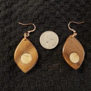 Wooden earring #1 Wood/ Pine