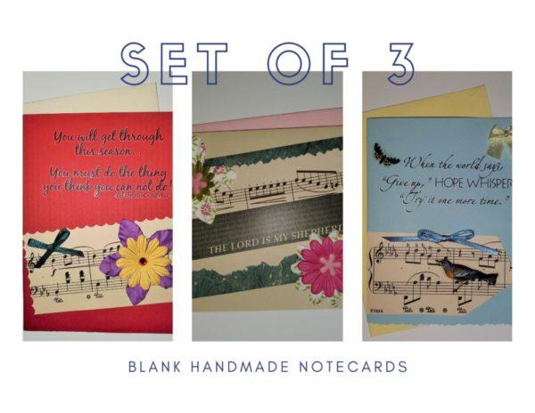 3 Handmade Notecards