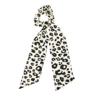 Animal Print Bow Scrunchie